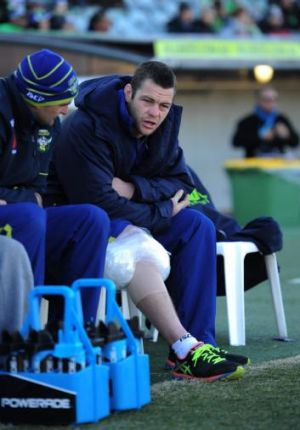 Shaun Fensom after his injury against the Warriors.