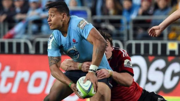 """Give it to Izzy! GIVE IT TO IZZY!"": Waratahs star Israel Folau drew multiple defenders with every touch."