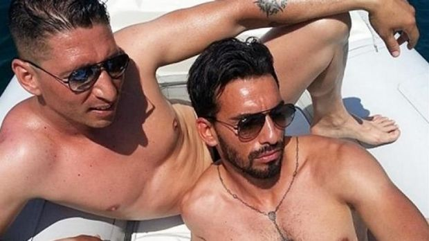 Alleged Palermo mafia man Domenico Palazzotto (right) created a Facebook page under a false name and posted photos of ...