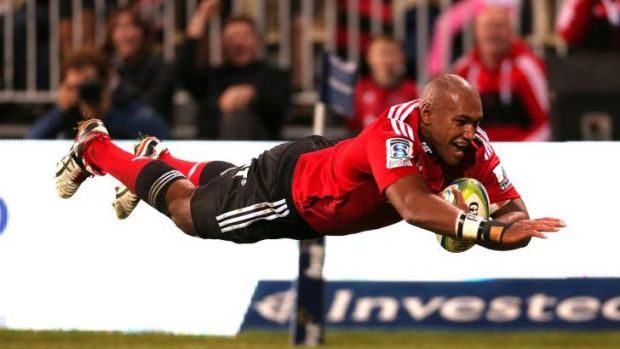 Abused ... Crusaders winger Nemani Nadolo.