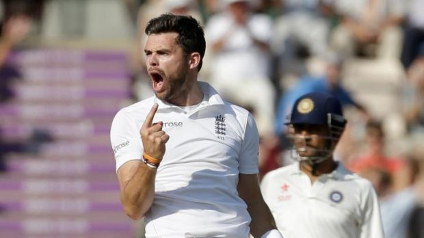 Abusive language ... England fast bowler James Anderson