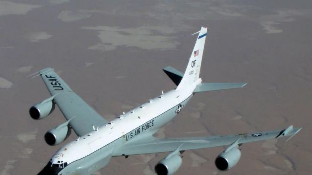 The US air force RC-135  reconnaissance plane.