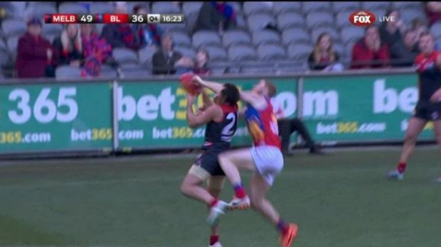 Daniel Merrett was cleared of this incident with Cam Pedersen.