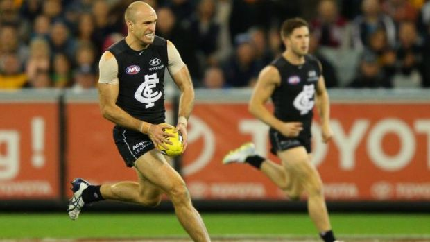 Since returning in round 13 from a hamstring strain, Chris Judd is averaging 21 disposals, including 11 contested, five ...