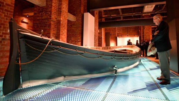 A lifeboat that was used at the Gallipoli landings.