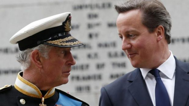 British Prime Minister David Cameron (right) with Prince Charles. Mr Cameron has pledged to give Scotland more ...