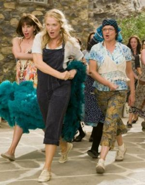 Positively Agnetha Faltskog: Meryl Streep (centre) with Christine Baranski (left) and Julie Walters in Mamma Mia!