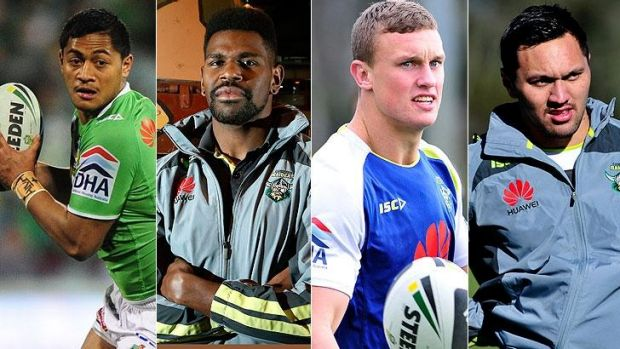 Big changes for the Canberra Raiders: Anthony Milford, Edrick Lee, Jack Wighton and Jordan Rapana.