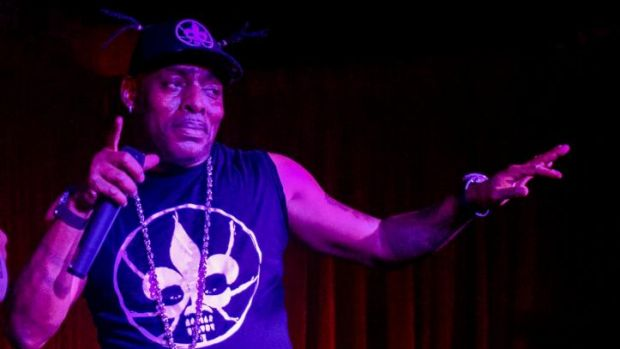 Coolio on stage at Transit Bar in Canberra.