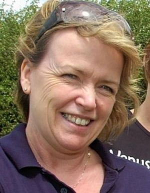 Breast cancer survivor Geraldine Jones died when she was thrown from a horse in south Wales.
