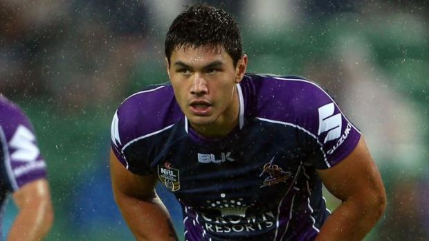 Centre of the storm: Melbourne's Jordan McLean could be targeted by Newcastle Knights fans this weekend.