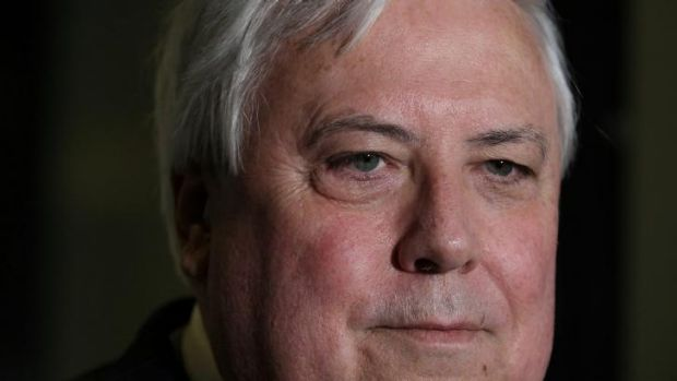 Palmer United Party leader Clive Palmer, who was seen on Tuesday having drinks with Communications Minister Malcolm Turnbull.