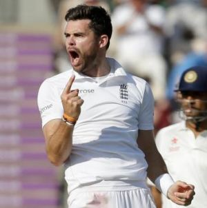 Under fire: England fast bowler James Anderson
