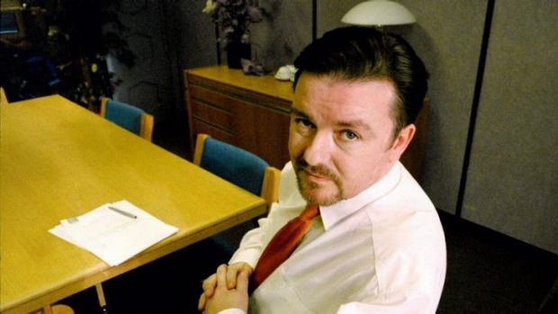 Ricky Gervais as David Brent in <i>The Office</i>.
