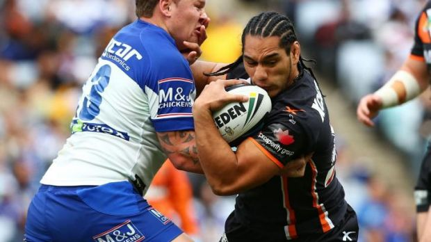 United front: Martin Taupau says the Wests Tigers are fully behind their captain and coach.