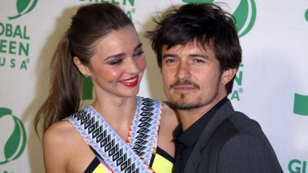 Miranda Kerr with ex-husband Orlando Bloom who allegedly punched Justin Bieber last week for making disparaging remarks ...