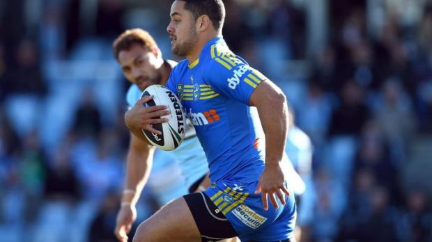 Leading the charge: Jarryd Hayne.