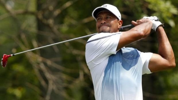 Free and easy: Tiger Woods has overcome a back injury and will feature in the PGA Championship.