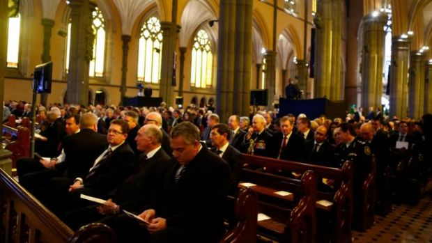 Mourners at St Pat's remembers the victims of MH17.