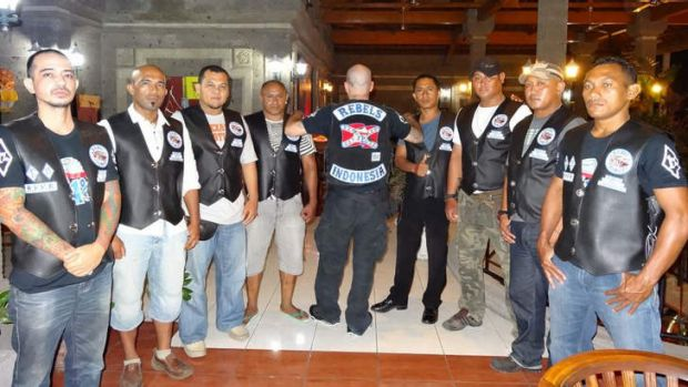Building connections: The new Indonesian chapter of the Rebels outlaw motorcycle gang.