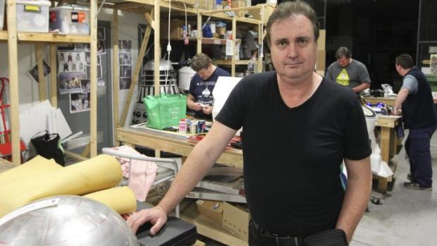 Man of steel: Sydney Robot Workshop's Dave Everett loves socialising with his fellow robot makers.