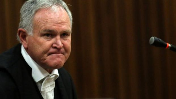 Defence lawyer Barry Roux during the trial.