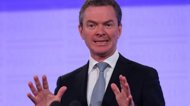 Education Minister Christopher Pyne at the National Press Club.