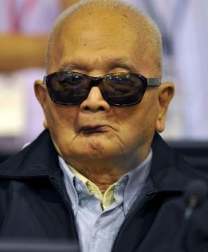 """""""Brother Number Two"""" Nuon Chea in court."""