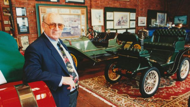 Late art dealer Julian Sterling with his vintage cars.