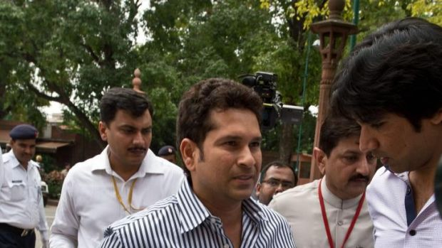 Sachin Tendulkar at parliament in 2013. He hasn't attended a session this year.