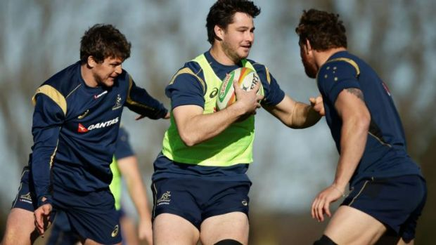 Big test: Sam Carter will lock horns with the All Blacks pack.