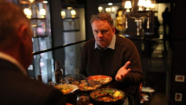 Politically speaking: Former leader of the Australian Labor Party Mark Latham at Burma Lane.