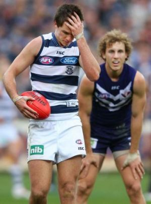 The Cats say they're not thinking too much about last year's loss to Fremantle.