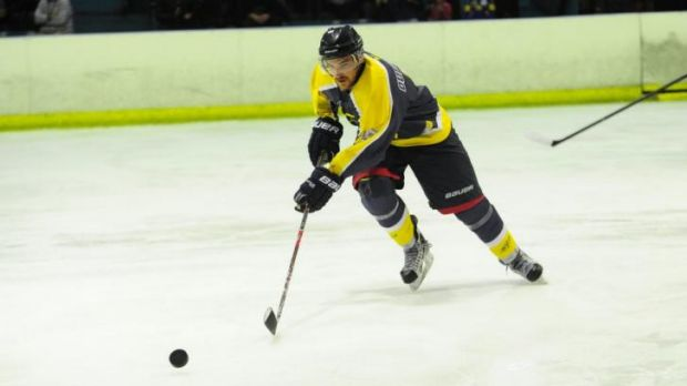 Mathieu Ouellette is joint top-scorer in the AIHL with teammate Stephen Blunden.