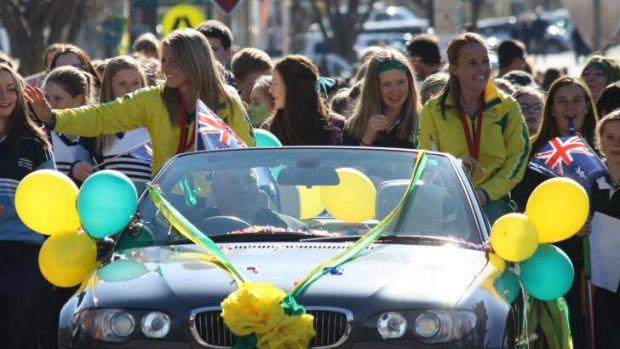 Kellie White and Emily Smith were honoured with a street parade in their home town of Crookwell on Friday after winning ...