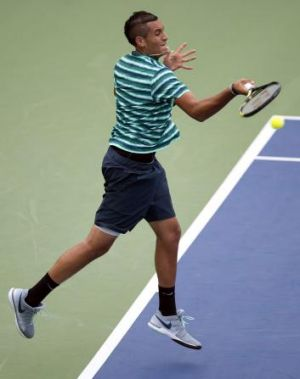 Nick Kyrgios in action at Toronto this week.