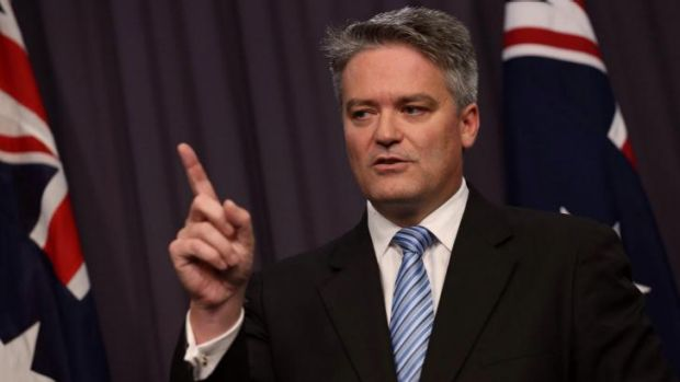 Finance minister Mathias Cormann has described reports that public servants' superannuation would be stripped back as ...
