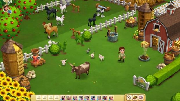A scene from Farmville 2.