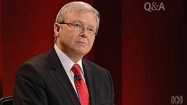 "Kevin Rudd: became increasingly ""jittery"", according to Wayne Swan."