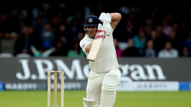 By the book: Aaron Finch in action during the MCC-Rest of the World match at Lord's in July.