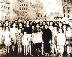 Brundibar as shown in a still from Theresienstadt, a documentary film from the Jewish Settlement Area, filmed in 1944, ...