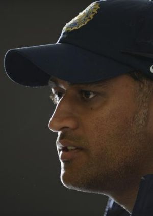 Under fire: MS Dhoni.