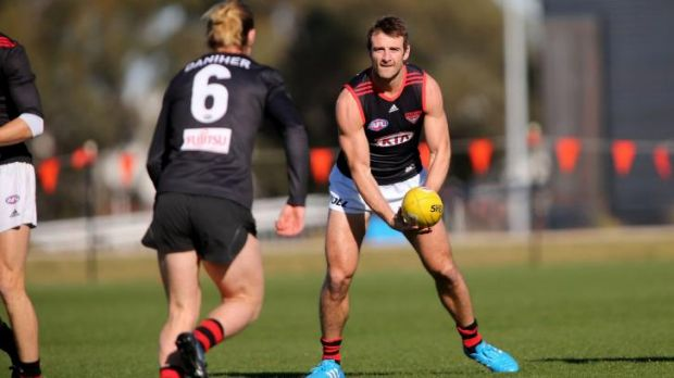 Jobe Watson at training last week.