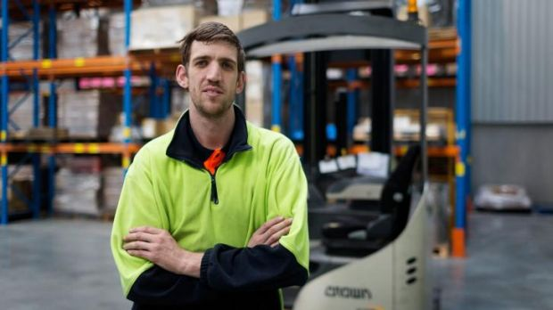 Jeopardised: Forlift driver Matt Hillas says he loves his job.
