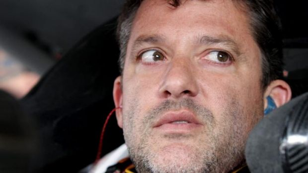 Pulled out of race: Tony Stewart.