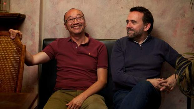 Tony ayres, left, and Robert Connolly, both Melbourne based writer-director-producers. Photographed at Bistro Vue, July ...