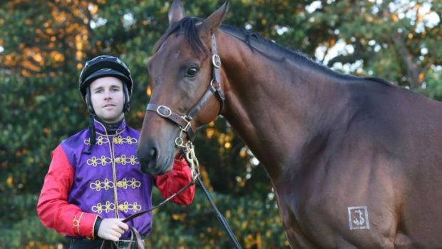 Jockey Tommy Berry with Carlton House before the Queen Elizabeth Stakes.