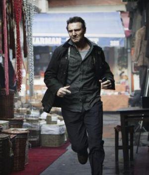 """Liam Neeson in Taken, the  first """"old bloke"""" action movie."""