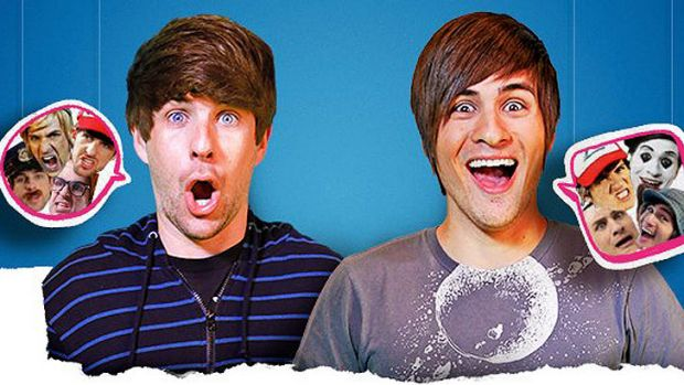 Comedy due Smosh parody music and movie clips on YouTube. Some of their videos have clocked in over 40 million views.