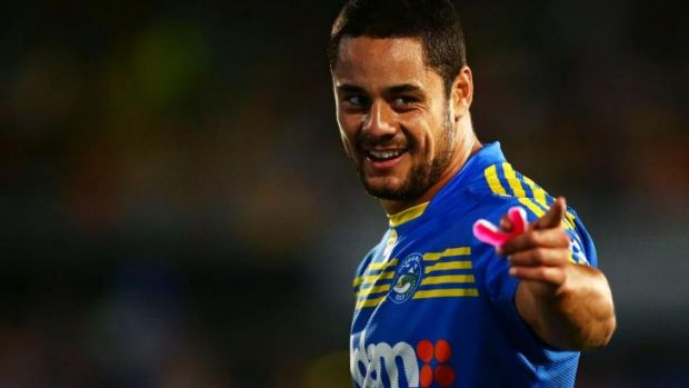 Sure footed: Parramatta fullback Jarryd Hayne has been dazzling opponents with his footwork this season.
